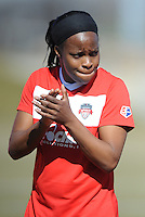 Boyds, Maryland - March 15, 2014. Danesha Adams of the Washington Spirit.  The Washington Spirit during the Meet the Team at the Maryland SoccerPlex.