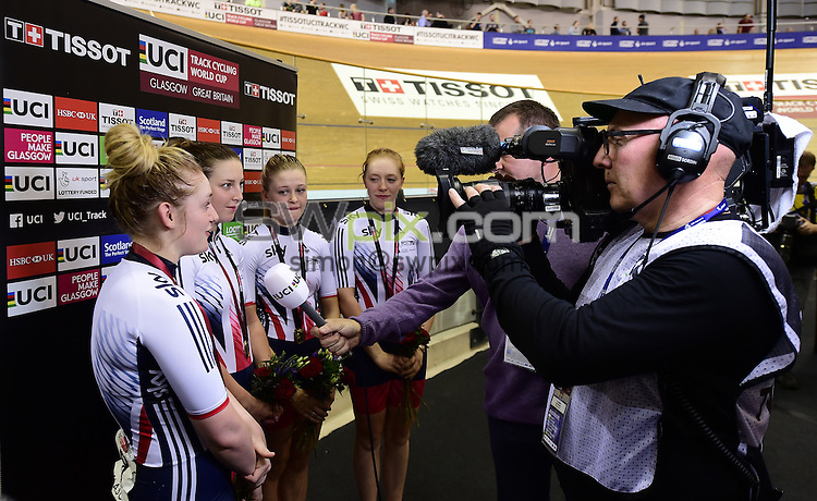 Picture by Alex Broadway/SWpix.com - 04/11/2016 - Cycling - 2016 UCI Track Cycling World Cup, Day 1 - Sir Chris Hoy Velodrome, Glasgow, United Kingdom - The Brief.