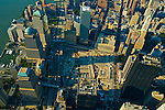aerial view of ground zero in 2002