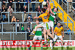 James O'Sullivan Legion and  Donal leahy Feale Rangers contest the kick out during their County Championship clash in Fitzgerald Stadium on sunday
