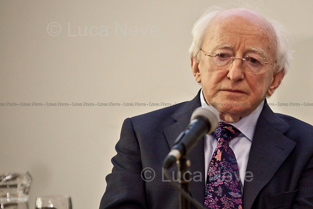 """Michael D. Higgins, President of Ireland - 2012<br /> <br /> London, 21/02/2012. Today LSE (London School of Economics) presented a public lecture called """"Of Public Intellectuals, Universities, and a Democratic Crisis"""" hosted by Michael D. Higgins (President of Ireland, poet, writer, academic, statesman, Human Rights advocate, former first Irish Minister for Arts and Culture). Chair of the event was Peter Sutherland (Irish international businessman, chairman of Goldman Sachs International and Chair of London School of Economics)."""