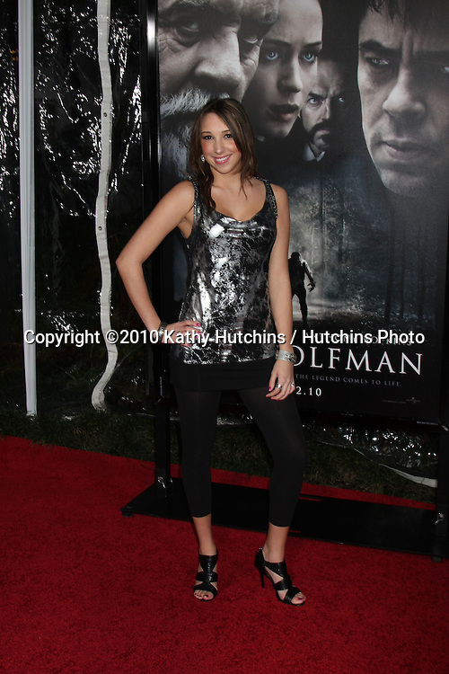 Ashley Edner.arrivng at the premiere of The Wolfman..Arclight Hollywood.Los Angeles, CA.February 9, 2010.©2010 Kathy Hutchins / Hutchins Photo....
