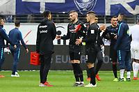 Enttäuschung bei der Eintracht - 27.04.2019: Eintracht Frankfurt vs. Hertha BSC Berlin, 31. Spieltag Bundesliga, Commerzbank Arena DISCLAIMER: DFL regulations prohibit any use of photographs as image sequences and/or quasi-video.