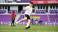 Orlando, Florida - Friday January 12, 2018: Lucas Stauffer during the agility test. The 2018 adidas MLS Player Combine Skills Testing was held Orlando City Stadium.