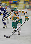 14 February 2015: University of Vermont Catamount Defender Sarah Campbell, a Senior from Saratoga Springs, NY, in first period action against the University of New Hampshire Wildcats at Gutterson Fieldhouse in Burlington, Vermont. The Lady Catamounts rallied from a 3-1 deficit to earn a 3-3 tie in the final home game of their NCAA Hockey East season. Mandatory Credit: Ed Wolfstein Photo *** RAW (NEF) Image File Available ***