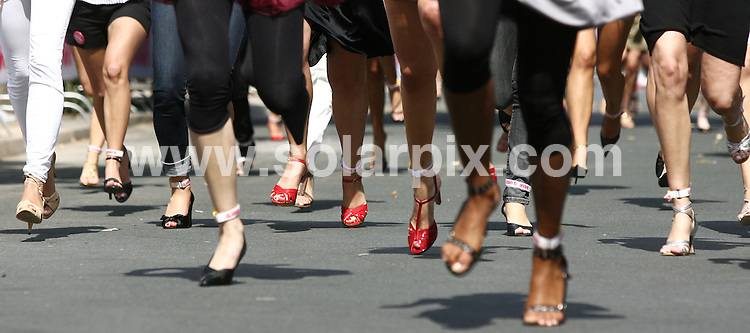 **ALL ROUND PICTURES FROM SOLARPIX.COM**.**SYNDICATION FOR UK AND SPAIN PUBLICATIONS ONLY** .The Glamour Magazine Stiletto Run is a 100 meter race, with which participants wear High Heels at least 7 cm high and maximum 1.5 cm wide. 2007's run took place in Berlin 18th August 2007..This pic: Glamour Stiletto Run..JOB REF:  4503  CPR      DATE: 18_08_2007.**MUST CREDIT SOLARPIX.COM OR DOUBLE FEE WILL BE CHARGED* *UNDER NO CIRCUMSTANCES IS THIS IMAGE TO BE REPRODUCED FOR ANY ONLINE EDITION WITHOUT PRIOR PERMISSION*