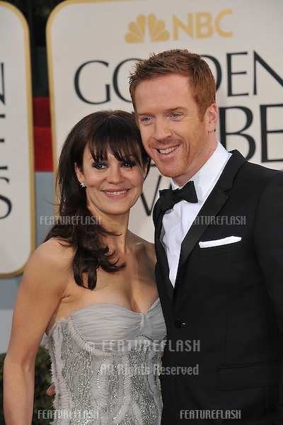 Damian Lewis & Helen McCrory at the 70th Golden Globe Awards at the Beverly Hilton Hotel..January 13, 2013  Beverly Hills, CA.Picture: Paul Smith / Featureflash