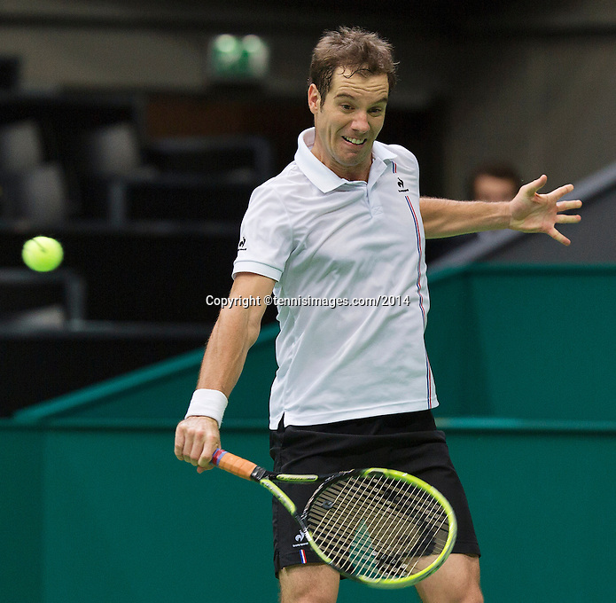 12-02-14, Netherlands,Rotterdam,Ahoy, ABNAMROWTT, Richard Gasquet(FRA)<br /> Photo:Tennisimages/Henk Koster