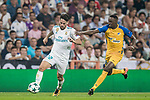 Isco Alarcon (l) of Real Madrid battles for the ball with Vinicius de Oliveira Franco of APOEL FC during the UEFA Champions League 2017-18 match between Real Madrid and APOEL FC at Estadio Santiago Bernabeu on 13 September 2017 in Madrid, Spain. Photo by Diego Gonzalez / Power Sport Images