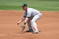 Kane County Cougars first baseman Marty Herum (14) during a Midwest League game against the Wisconsin Timber Rattlers on May 16th, 2015 at Fox Cities Stadium in Appleton, Wisconsin.  Kane County defeated Wisconsin 4-2.  (Brad Krause/Four Seam Images)