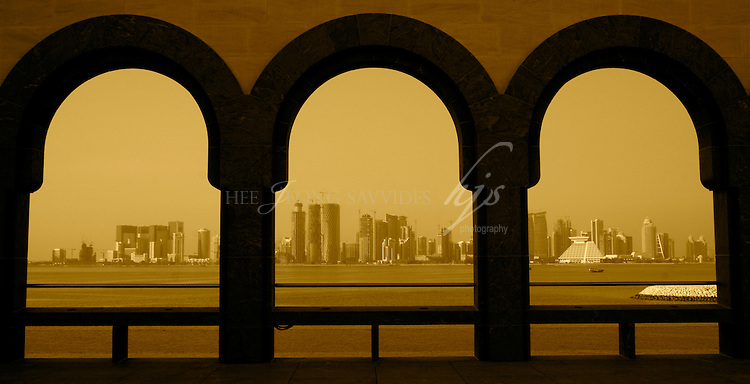 The view of West Bay from the Museum of Islamic Art, Doha, Qatar | Dec 08