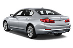 Car pictures of rear three quarter view of a 2018 BMW 5 Series 540i Sport Line 4 Door Sedan angular rear