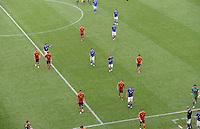 FUSSBALL  EUROPAMEISTERSCHAFT 2012   VORRUNDE Spanien - Italien            10.06.2012 Die Mannschaften verlassen den Platz