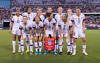 , FL - : The USWNT lines up for the starting XI photo during a game between  at  on ,  in , Florida.