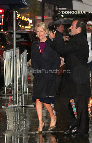 NEW YORK, NY - NOVEMBER 15:  Megyn Kelly, journalist and FOX News personality, spotted leaving 'Good Morning America' in the rain in New York, New York on November 15, 2016.  Photo Credit: Rainmaker Photo/MediaPunch
