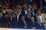 Supercopa de Espa&ntilde;a - Ida.<br /> FC Barcelona vs R. Madrid: 1-3.<br /> Josep M. Bartomeu, Juan Luis Larrea &amp; Florentino Perez.