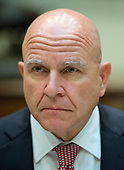 "National Security Advisor H. R. McMaster listens as United States President Donald J. Trump makes remarks to the press prior to having lunch with four veterans of Afghanistan in the Roosevelt Room of the White House in Washington, DC on Tuesday, July 18, 2017.  In his remarks the President said he was ""disappointed"" about the GOP failure to pass a healthcare bill and said his plan was to ""let Obamacare fail.""<br /> Credit: Ron Sachs / CNP"