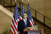 United States President Barack Obama delivers remarks at an event commemorating the 150th anniversary of the 13th Amendment, which formally abolish slavery, on Capitol Hill, in Washington, DC, December 9, 2015.  Members of both the House and Senate, including Congressional leadership and the Congressional Black Caucus attend. <br /> Credit: Aude Guerrucci / Pool via CNP