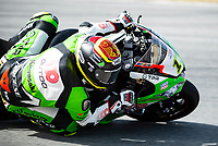 8th July 2020; Circuit de Barcelona Catalunya, Barcelona, Spain; FIM Superbike World Championship tests;  Day One; Sandro Cortese of the Outdo Kawasaki TPR Team in action with the Kawasaki ZX 10RR