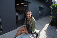 Joy Bryant attends the Joy Bryant Basic Terrain Launch at Malibu Country Mart's CURVE on Tuesday, August 25, 2015 (Photo by Inae Bloom/Guest of a Guest)