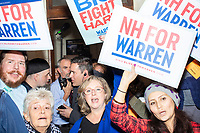 Supporters line the State House hallways with and hold campaign signs before Democratic presidential candidate and Massachusetts senator Elizabeth Warren files paperwork to get on the primary ballot at the NH State House in Concord, New Hampshire, on Wed., November 13, 2019. Warren also held a small rally outside the State House after filing her paperwork.