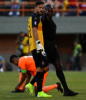 ENVIGADO - COLOMBIA, 15-09-2019: Jhon Alexander Mosquera, árbitro durante partido entre Envigado F. C. y Deportivo Independiente Medellín de la fecha 11 por la Liga Águila II 2019, en el estadio Polideportivo Sur de la ciudad de Envigado. / Jhon Alexander Mosquera, referee during a match between Envigado F. C., and Deportivo Independiente Medellin of the 11th date  for the Aguila Leguaje II 2019 at the Polideportivo Sur stadium in Envigado city. Photo: VizzorImage / León Monsalve / Cont.