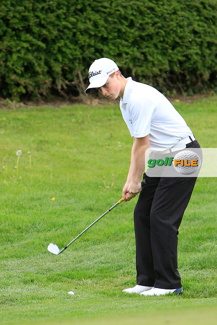 Conor Purcell (Portmarnock) chipping onto the 5th green during the Mullingar Scratch Trophy Day 2 at Mullingar Golf Club Belvedere 19th May 2013.Picture: Thos Caffrey www.golffile.ie...