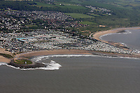 Aerial view of Trecco Bay Caravan Park near Porthcawl
