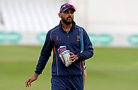 Murali Vijay of Essex departs the field following the warm-up prior to  Nottinghamshire CCC vs Essex CCC, Specsavers County Championship Division 1 Cricket at Trent Bridge on 10th September 2018