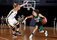 Florida International University guard Zsofia Labady (3) plays against Stetson University in the first round of the NIT.  FIU won the game 75-47 on March 15, 2012 at Miami, Florida. .