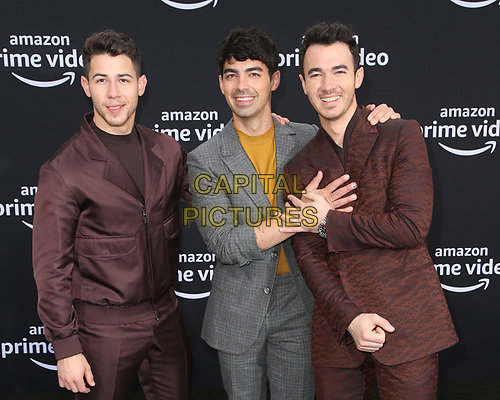 LOS ANGELES, CA - JUNE 3: Nick Jonas, Joe Jonas and Kevin Jonas at the World Premiere of Jonas Brothers' Chasing Happiness at the Regency Bruin Theater in Los Angeles, California on June 3, 2019. <br /> CAP/MPIFS<br /> ©MPIFS/Capital Pictures