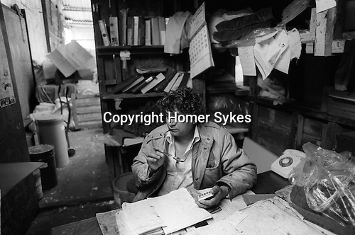 Blackburn Lancashire   business man in his dying factory   1983