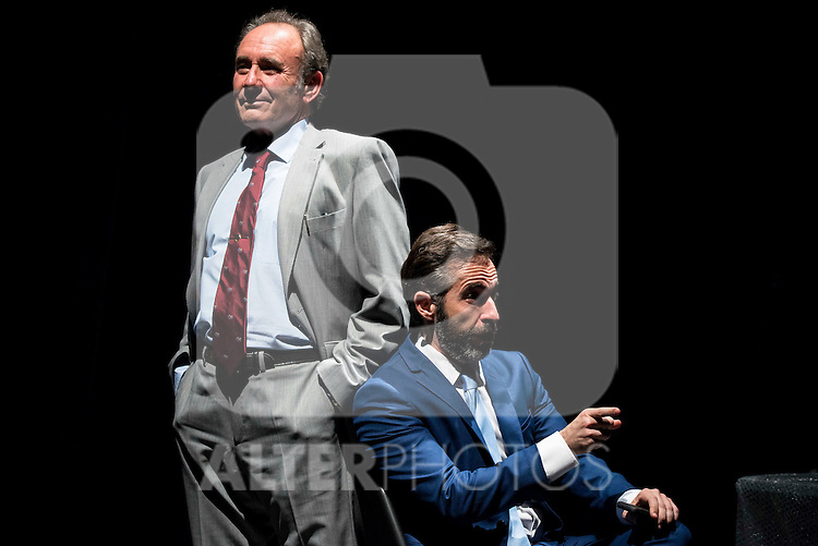"Philip Rogers and Pepe Ocio during the theater play of ""Debate"", the comeback to the teather of Toni Canto at Teatros del Canal in Madrid. May 03, 2016. (ALTERPHOTOS/Borja B.Hojas)"