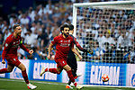 Liverpool's FC Mohamed Salah and Liverpool's FC Jordan Henderson during UEFA Champions League match, Final Roundl between Tottenham Hotspur FC and Liverpool FC at Wanda Metropolitano Stadium in Madrid, Spain. June 01, 2019.(ALTERPHOTOS/Manu R.B.)