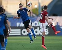 Santa Clara, California - Thursday, July 2, 2014: Chivas USA defeated the San Jose Earthquakes 1-0 during a Major League Soccer (MLS) match at Buck Shaw Stadium.