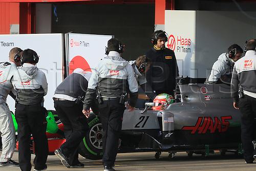 25.02.2016. Circuit de Catalunya, Barcelona, Spain. Day 4 of the Spring F1 testing and new car unvieling for 2016-17 season.  Haas F1 Team VF-16 – Esteban Gutierrez