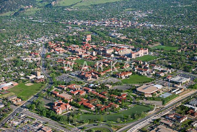 University of Colorado, Boulder.  Aerial May 2013