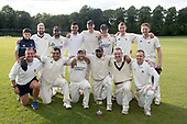 Cricket Scotland National League Final - Prestwick CC V Heriots CC at Meikleriggs, Paisley (Ferguslie CC) - the victorious Prestwick side, who defended their improbable 97 total against Heriots to take the Cricket Scotland National League title - picture by Donald MacLeod - 20.08.2017 - 07702 319 738 - clanmacleod@btinternet.com - www.donald-macleod.com