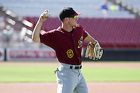 Quad Cities River Bandits shortstop Alex Bregman (8) warms up prior to a Midwest League game against the Wisconsin Timber Rattlers on July 17th, 2015 at Fox Cities Stadium in Appleton, Wisconsin. Quad Cities defeated Wisconsin 4-2. (Brad Krause/Four Seam Images)
