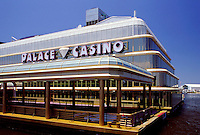 "The Palace Casino. Although technically """"floating"""", this offshore building is hard to tell from a land-based one. Biloxi, Mississippi."