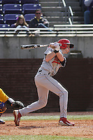 Stony Brook Seawolves outfielder Travis Jankowski #6 at bat during a game against the East Carolina University Pirates at Clark-LeClair Stadium on March 4, 2012 in Greenville, NC.  East Carolina defeated Stony Brook 4-3. (Robert Gurganus/Four Seam Images)