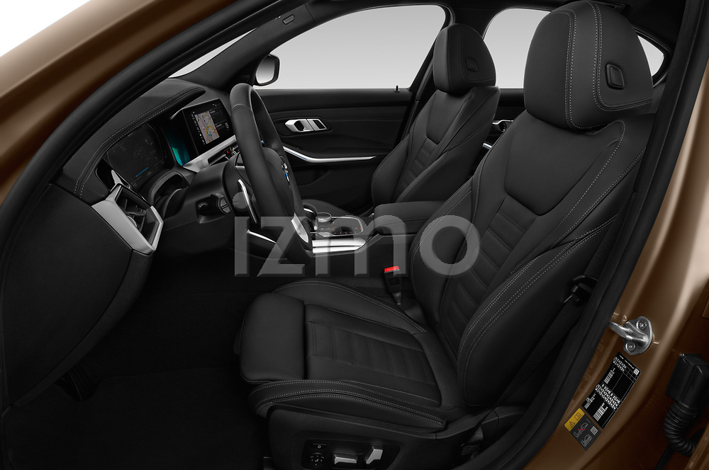 Front seat view of a 2019 BMW 3 Series Sport PHEV 4 Door Sedan front seat car photos