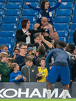 Callum Hudson-Odoi of Chelsea U23 poses for photos with supporters during the Premier League 2 match between Chelsea U23 and Brighton & Hove Albion Under 23 at Stamford Bridge, London, England on 13 September 2019. Photo by Andy Rowland.