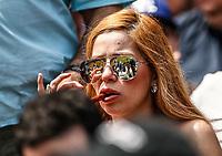 Aficionada de los Dodgers. <br /> Acciones del partido de beisbol, Dodgers de Los Angeles contra Padres de San Diego, tercer juego de la Serie en Mexico de las Ligas Mayores del Beisbol, realizado en el estadio de los Sultanes de Monterrey, Mexico el domingo 6 de Mayo 2018.<br /> (Photo: Luis Gutierrez)