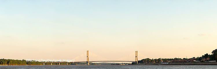 65095-02116 Barge on Mississippi River and Bill Emerson Memorial Bridge Cape Girardeau, MO
