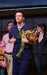 Jason Mraz takes a bow at the curtain call of Broadway's 'Waitress' at The Brooks Atkinson Theatre on November 3, 2017 in New York City.