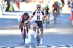 Michael Matthews (AUS) Team Sunweb outsprints Greg Van Avermaet (BEL) BMC to win Stage 14 of the 104th edition of the Tour de France 2017, running 181.5km from Blagnac to Rodez, France. 15th July 2017.<br /> Picture: ASO/Alex Broadway | Cyclefile<br /> <br /> <br /> All photos usage must carry mandatory copyright credit (&copy; Cyclefile | ASO/Alex Broadway)
