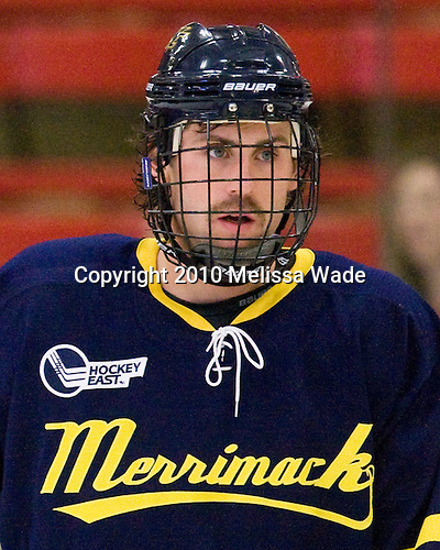 John Jamieson (Merrimack - 15) -  - The visiting Merrimack College Warriors defeated the Harvard University Crimson 3-1 (EN) at Bright Hockey Center on Tuesday, November 30, 2010.