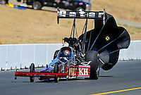 Jul. 18, 2010; Sonoma, CA, USA; NHRA top fuel dragster driver Larry Dixon during the Fram Autolite Nationals at Infineon Raceway. Mandatory Credit: Mark J. Rebilas-