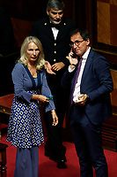 Julia Unterberger and Vincenzo Boccia<br /> Rome September 10th 2019. Senate. Discussion and Trust vote at the new Government. <br /> Foto  Samantha Zucchi Insidefoto